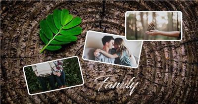 13994 浪漫情侣爱情照片相册片头ae免费模板素材 ae素材