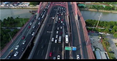航拍苏州寒山桥视频