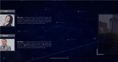 13397 点线背景科技感商务幻灯片开场 ae特效素材网高科技互联网未来ae源文件