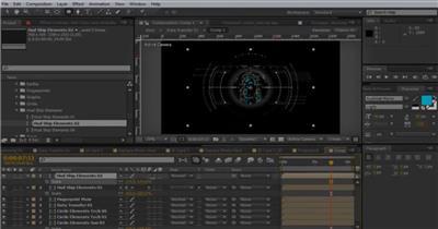 13840 科技界面动画元素 ae模板视频高科技互联网未来ae源文件