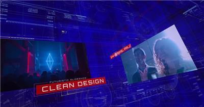 13373 数字科技幻灯片 ae特效素材免费高科技互联网未来ae源文件