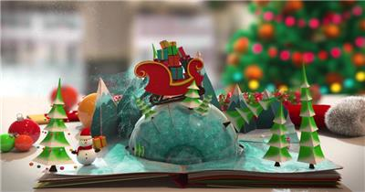 ED圣诞节祝福贺卡 EDIUS模板 圣诞节 EDIUS素材 节日模版