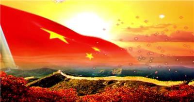 歌颂祖国 款A03960长城红旗无音乐