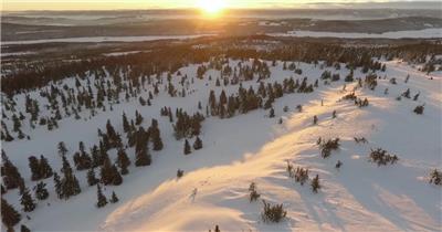 日出日落夕阳雪山森林天空视频