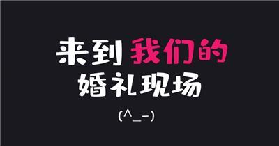 婚礼字幕快闪AE模板(带视频)