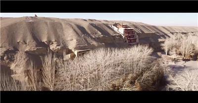 实拍沙漠古城楼兰古国影视视频实拍