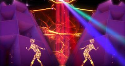 A245-舞动粒子火焰跳舞人物酒吧(含音乐) 酒吧视频 dj舞曲 夜店视频