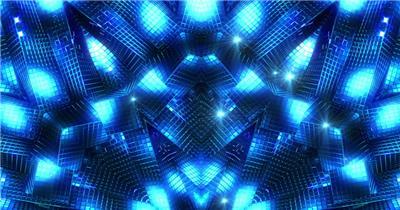 蓝色几何动态背景-BlueGeometry 视频素材下载
