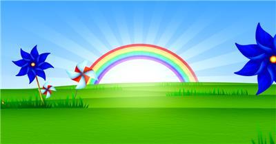 缤纷夏日彩虹主题的素材  RainbowRisingHD 视频素材下载