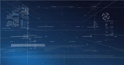 动态科技背景6(阿铺) 虚拟高科技背景视频素材