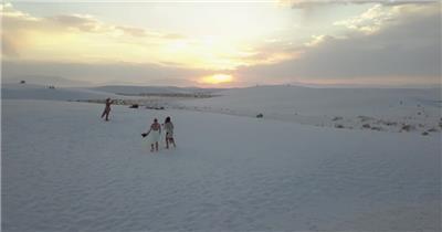 冬日雪景实拍震撼夕阳航拍视频