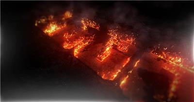 火焰沿路径燃烧LOGO动画演绎