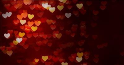 浪漫唯美的爱心光斑素材 HeartFloat 视频素材下载