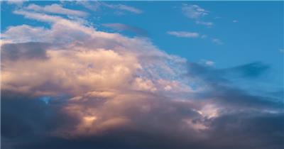 夕阳火烧云素材