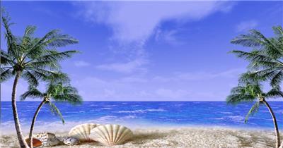沙滩椰树 款A19112浪漫椰岛有音乐_batch led视频背景下载
