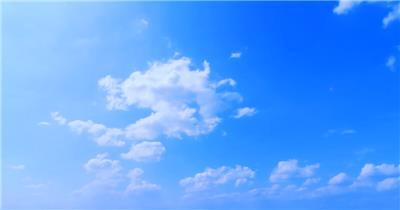 晴天蓝天白云背景视频