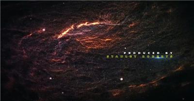 14247 宇宙太空粒子银河文字标题片头ae免费模板素材 ae素材