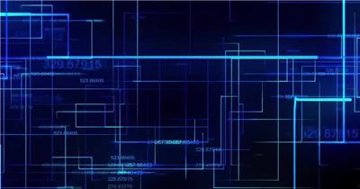 动态科技背景12(阿铺) 虚拟高科技背景视频素材