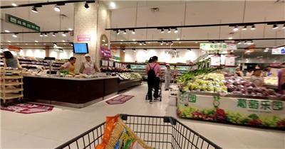 超市购物高清延时视频
