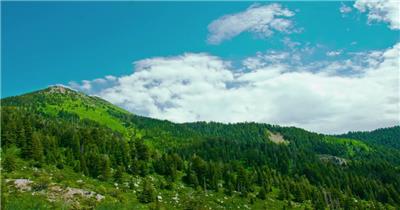 超唯美蓝天白云青山自然风光
