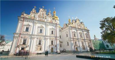 城市-基辅延时摄影风光风景视频素材