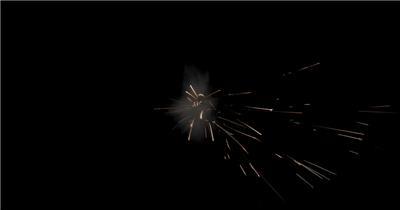 -带通道的火花四溅的特效素材.带通道的火花四溅的特效素材.CouchHit07