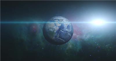 高清视频素材 宇宙中的地球个EarthZoomOut