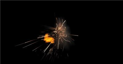 -带通道的火花四溅的特效素材.带通道的火花四溅的特效素材.CouchHit05