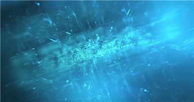 电路板蓝色科技片头展示AE模板