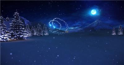 ED蓝色圣诞树 EDIUS模板 圣诞节 EDIUS素材 节日模版