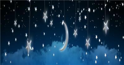 星星月亮 款A20022星星月亮无音乐_batch led视频背景下载