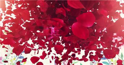 三八优雅女人节玫瑰花开场片头