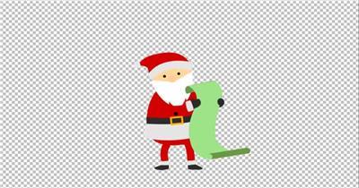 11767 圣诞老人卡通动画 免费AE模板特效素材下载 典尚视频素材