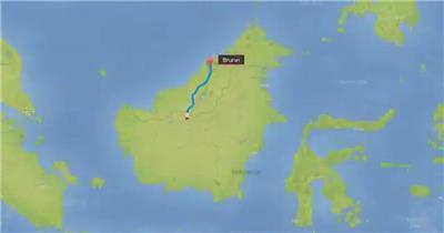 13011 亚洲地图旅行栏目包 AE素材 ae源文件模版 栏目包装ae