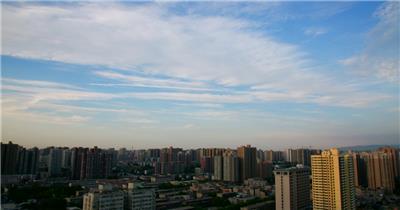 蔚蓝天空高清延时实拍