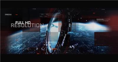 14265 未来科技感游戏电影图片视频开场ae免费模板素材 ae素材