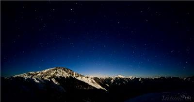 时间流逝冬季夜空延时摄影风景视频