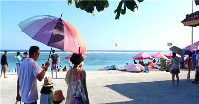 沙滩清澈海水旅游胜地人文地理