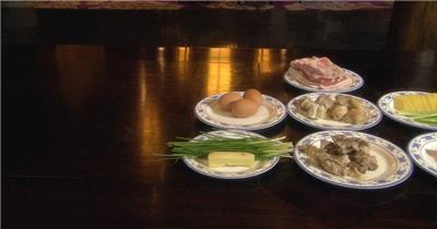 饭店酒楼吃饭聚餐美食火锅高清视频素材餐饮厨师食物厨房制作美食2