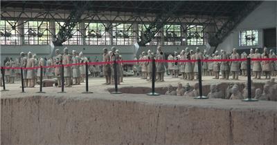超清实拍西安兵马俑宣传旅游视频