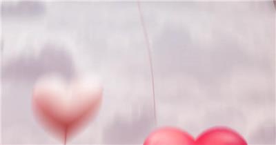 13978 爱心气球情人节片头ae免费模板素材 ae素材