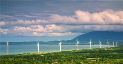 新能源电力风车群