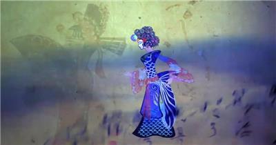 古代典雅中国风画剧演绎浪漫爱情故事高清视频动画