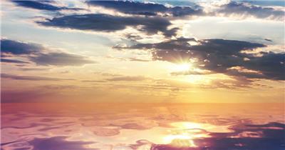 海边日光风景   skyoceanHD 视频素材下载