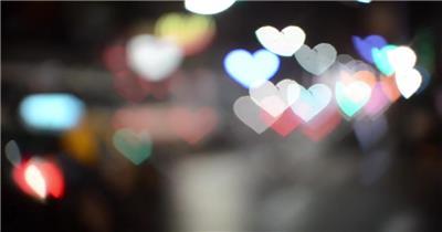 创意心形灯光唯美梦幻车灯情侣浪漫
