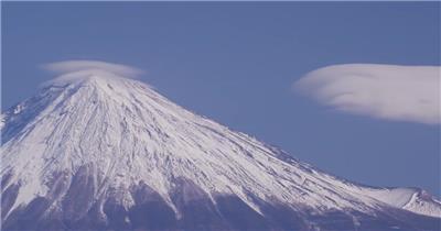 日本富士山背景视频