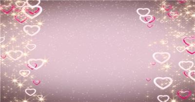-星光坠落的爱心边框循环素材 星光坠落的爱心边框循环素材GlamorousAffairSD 视频素材下载