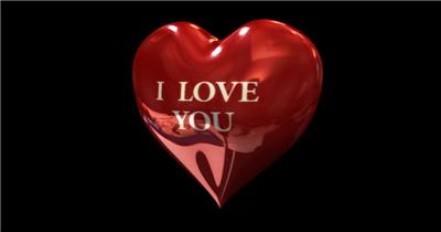 带通道的旋转红色爱心气球素材红色爱心2