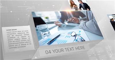 13690 简洁商务科技感企业宣传片头 ae片头素材