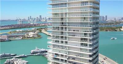 迈阿密海滩游艇码头视频素材